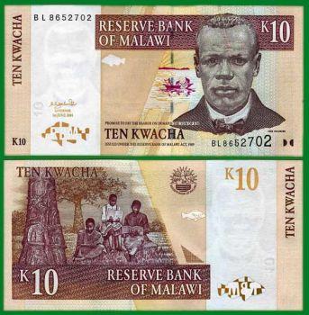 MALAWI 10 KWACHA  2004  UNC