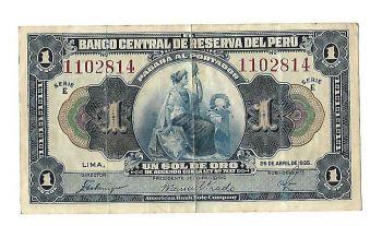Peru 5000 Intis 1988 P 137 Unc