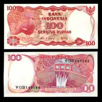 INDONESIA 100 RUPIAH PIGEON 1984 P 122 UNC