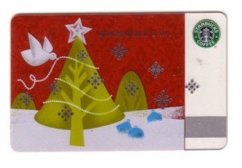 GREECE STARBUCKS CARD CHRISTMAS TREE 2010