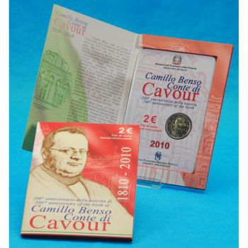 Italy €2 commemorative coin 2010 CAVOUR