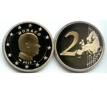 MONACO 2 euro 2010 Prince ALBERT II, PROOF