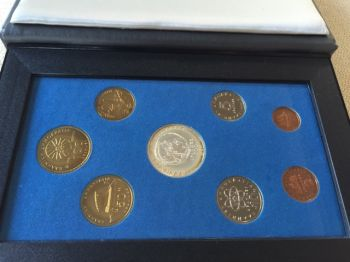Original set, with the silver coin, proof, 1993