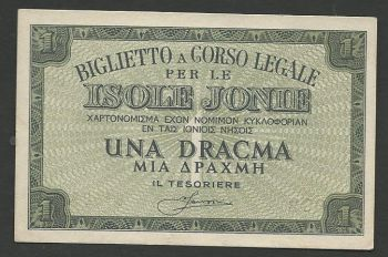 Greece: Isole Jonie Drachmae 1   UNC!!