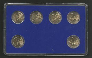 All 2 EURO commemorative coins 2013-2015 UNC!