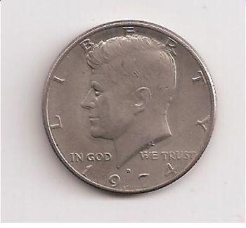 USA Half Dollar Kennedy 1974