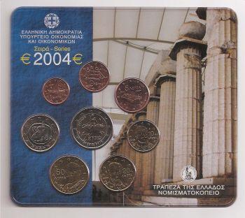 Greece: Blister 2004 Very very Rare (Original-Official-Authentic!) BUNC !!