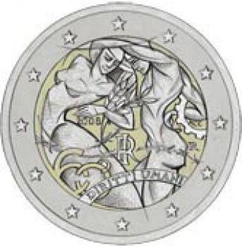 2008 Italy 2 Euro Commemorative Coin UNC