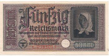 GREECE Occupation period (GERMANY)  DM 50  aUNC