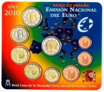 SPAIN / ESPAÑA. Euro set BU 2010 (9 coins)