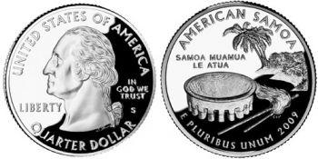 USA 1/4 dollar 2009 American Samoa UNC