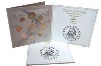 SLOVENIA. Euro Set BU 2008 (9 coins)  -  Free shipping