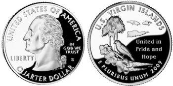 USA 1/4 dollar 2009 Virgin Islands UNC