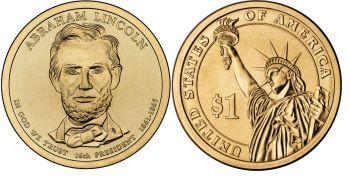 USA 1 dollar 2010 A.Lincoln UNC P
