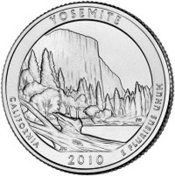 USA 1/4 dollar 2010 Yosemite UNC