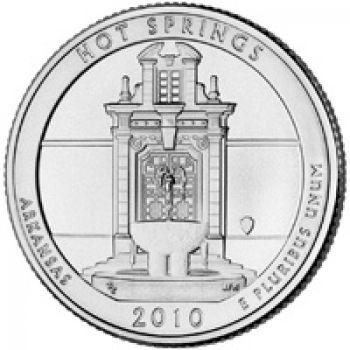 USA 1/4 dollar 2010 Hot Springs UNC