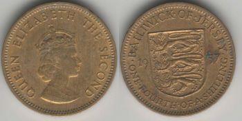 Jersey 1/4 shilling 1957 km#22