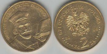 Poland 2 zlote 2006 Jan Laski Statute y#574