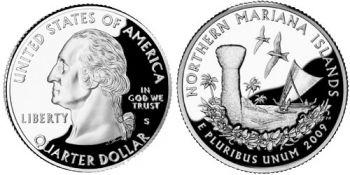 USA 1/4 dollar 2009 N.Mariana Islands UNC