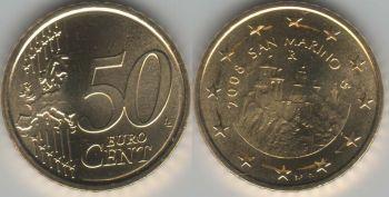 San Marino 50 euro cents 2008 UNC