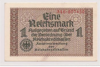 GREECE (GERMANY OCCUPATION)   one (1) DM  AU/UNC