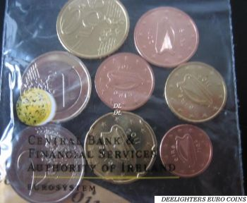 IRELAND. Set 1 Cent - 2 Euro Coin Fair Dublin 2011