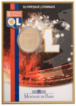 FRANCE. Blister 1,5 Euro BU 2009 Football Club Olympique Lyonnais - RARE ! Free shipping