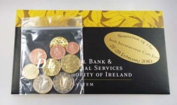 Ireland Euro Set UNC 2010. 1 Cent - 2 Euro - Coin Fair February 2010  -  Free shipping