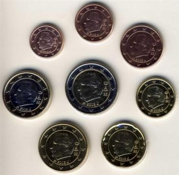 Belgique / Belgium. Complete Euro set 2008 1 Cent - 2 Euro BU   -   Free shipping