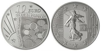 FRANCE. 10 Euro Silver Proof - The Sower 2011 10th Anniversary Starter-Kit   -   Free shipping