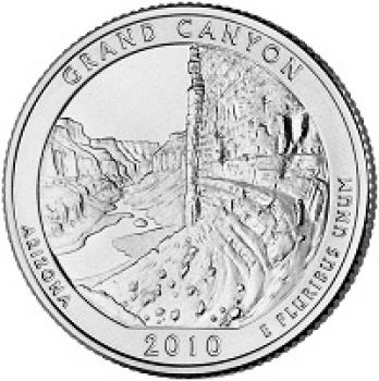 USA 1/4 dollar 2010 Grand Canyon UNC