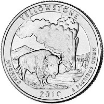 USA 1/4 dollar 2010 Yellowstone UNC