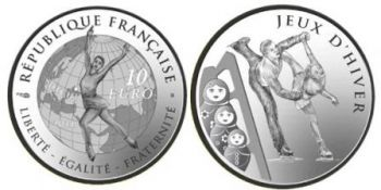FRANCE. 10 Euro Silver Proof Jeux d'Hiver - Winter Games 2011  -  Free shipping