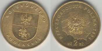 Poland 2 zlote 2004 Podlaskie Province y#491