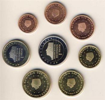 NETHERLANDS. Complete Euro Set 1 cent - 2 Euro  BU 2000