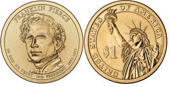 USA 1 dollar 2010 F.Pierce UNC