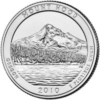 USA 1/4 dollar 2010 Mt.Hood UNC
