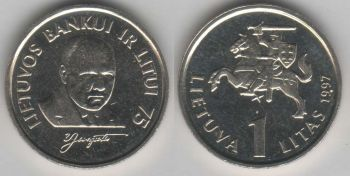 Lithuania 1 litas 1997 Central Bank km#109