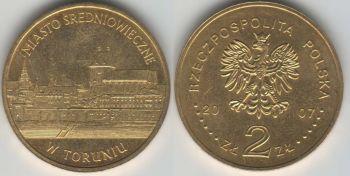 Poland 2 zlote 2007 Torun y#622