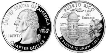 USA 1/4 dollar 2009 Puerto Rico UNC