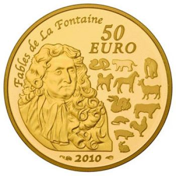 FRANCE 50 Euro Gold Proof 2010 - Year of the Tiger (Free of VAT)