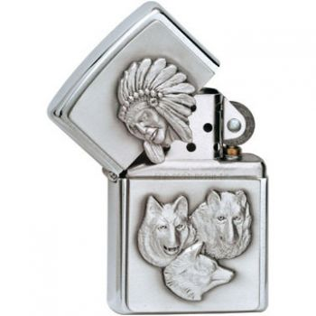 2009. Zippo Wolves Chief Emblem  -  Free shipping