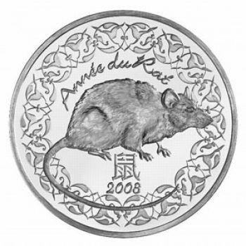 FRANCE. 1/4 Euro Silver BU 2008. Année du Rat / Year of the Rat