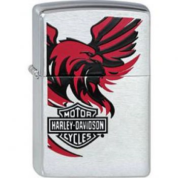 2009. Zippo Harley-Davidson Red/Black  -  Free shipping