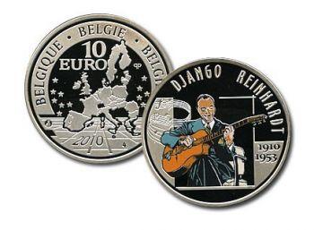 Belgium 10 Euro Silver PROOF 2010 Django Reinhardt