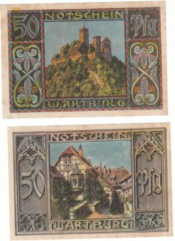 Germany Notgeld - 2 x 50 pfennig