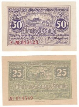 Germany 1920 - 25 & 50 pfennig UNC