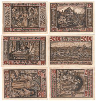 Germany Notgeld 31/5/1921 - 6 x 50 pfennig