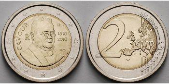 ITALY 2010 2 EURO COMMEMORATIVE CAVOUR UNC