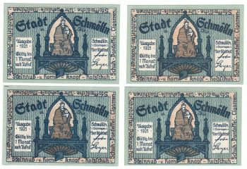 Germany 1921 - 4 x 50 pfennig UNC